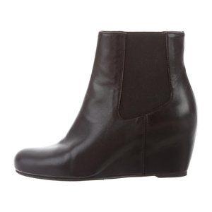Stuart Weitzman Nusocks Leather Chelsea Wedge Boot